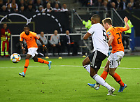 celebrate the goal, Torjubel zum 1:1 Ausgleich Frenkie de Jong (Niederlande) gegen Jonathan Tah (Deutschland Germany) - 06.09.2019: Deutschland vs. Niederlande, Volksparkstadion Hamburg, EM-Qualifikation DISCLAIMER: DFB regulations prohibit any use of photographs as image sequences and/or quasi-video.