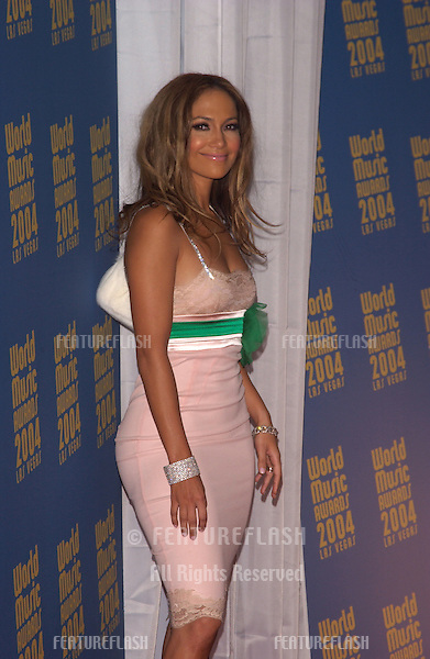 Actress/singer JENNIFER LOPEZ at the 16th Annual World Music Awards at the Thomas and Mack Centre, Las Vegas..September15, 2004