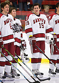 Ryan Grimshaw (Harvard - 6), Conor Morrison (Harvard - 38), Alex Killorn (Harvard - 19) - The St. Lawrence University Saints defeated the Harvard University Crimson 3-2 on Friday, November 20, 2009, at the Bright Hockey Center in Cambridge, Massachusetts.