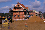 A913J8 New private housing estate being constructed Rendlesham Suffolk England