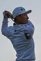 HaoTong Li (CHN) watches his tee shot on 11 during day 2 of the Valero Texas Open, at the TPC San Antonio Oaks Course, San Antonio, Texas, USA. 4/5/2019.<br /> Picture: Golffile | Ken Murray<br /> <br /> <br /> All photo usage must carry mandatory copyright credit (© Golffile | Ken Murray)