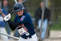 18 April 2006: Kenji Hagiwara is seen at bat during the third of seven 2006 MLB European Academy Try-out Sessions throughout Europe, at Stade Pershing, INSEP, near Paris, France. Try-out sessions are run by members of the Major League Baseball Scouting Bureau with assistance from MLBI staff.