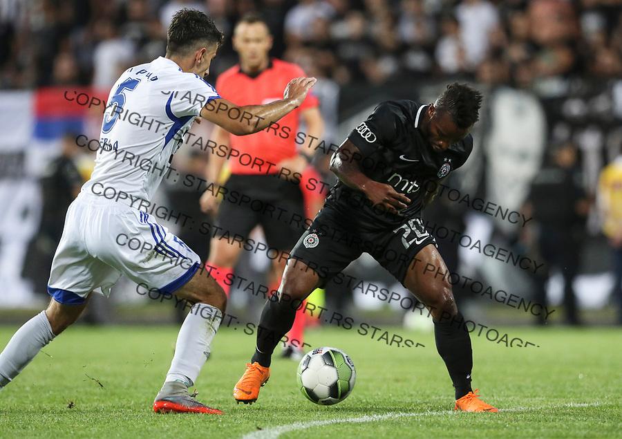 Fudbal UEFA Euruopa League season 2018-2019, <br /> First qualifying round 1st leg<br /> Rudar (Pljevlja) v Partizan<br /> Seydouba Soumah (R)<br /> Niksic, 12.07.2018.<br /> foto: Srdjan Stevanovic/Starsportphoto &copy;