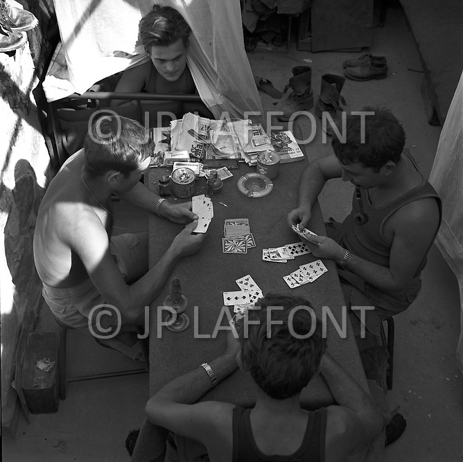 Mascara Area, Algeria, Summer 1961. Typical Miltary French Fort. Room for the troopers.