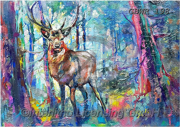 Simon, REALISTIC ANIMALS, REALISTISCHE TIERE, ANIMALES REALISTICOS, innovative, paintings+++++SueGardner_MysticStag,GBWR198,#a#, EVERYDAY ,deer,