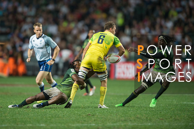 South Africa vs Australia during the HSBC Hong Kong Rugby Sevens 2016 on 10 April 2016 at Hong Kong Stadium in Hong Kong, China. Photo by Li Man Yuen / Power Sport Images
