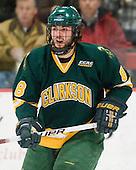 Patrick Marsh (Clarkson - 8) - The Harvard University Crimson defeated the visiting Clarkson University Golden Knights 3-2 on Harvard's senior night on Saturday, February 25, 2012, at Bright Hockey Center in Cambridge, Massachusetts.
