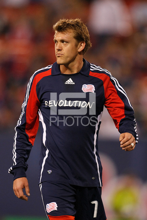 New England Revolution forward Adam Cristman (7). The New York Red Bulls and the New England Revolution played to a 1-1 tie during a Major League Soccer match at Giants Stadium in East Rutherford, NJ, on April 19, 2008.