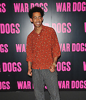 Jordan Stephens at the &quot;War Dogs&quot; gala film screening, Picturehouse Central, Corner of Shaftesbury Avenue &amp; Great Windmill Street, London, England, UK, on Thursday 11 August 2016.<br /> <br /> &copy;CAN/Capital Pictures / MediaPunch  ** USA and South America ONLY**