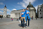 FK Trakai v St Johnstone&hellip;05.07.17&hellip; Europa League 1st Qualifying Round 2nd Leg<br />Saints fans in Vilnius ahead of kick off, from left, Gordon Thompson and Jamie Black from Kinross<br />Picture by Graeme Hart.<br />Copyright Perthshire Picture Agency<br />Tel: 01738 623350  Mobile: 07990 594431
