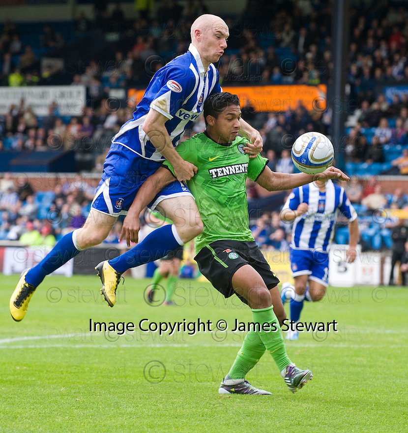 19/09/2010   Copyright  Pic : James Stewart.sct_jsp011_kilmarnock_v_celtic  .:: EMILIO IZAGUIRRE HOLDS OFF CONOR SAMMON ::.James Stewart Photography 19 Carronlea Drive, Falkirk. FK2 8DN      Vat Reg No. 607 6932 25.Telephone      : +44 (0)1324 570291 .Mobile              : +44 (0)7721 416997.E-mail  :  jim@jspa.co.uk.If you require further information then contact Jim Stewart on any of the numbers above.........