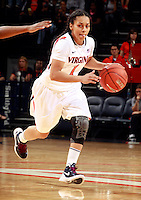 CHARLOTTESVILLE, VA- NOVEMBER 20: China Crosby #1 of the Virginia Cavaliers handles the ball during the game on November 20, 2011 against the Tennessee Lady Volunteers at the John Paul Jones Arena in Charlottesville, Virginia. Virginia defeated Tennessee in overtime 69-64. (Photo by Andrew Shurtleff/Getty Images) *** Local Caption *** China Crosby
