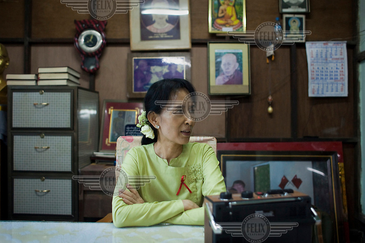 National League for Democracy (NLD) opposition party leader Aung San Suu Kyi is interviewed in Yangon five days after she was released. From 1990 until her release on 13 November 2010, Aung San Suu Kyi had spent almost 15 of the 21 years under house arrest.