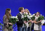 Laura Dreyfuss, Ben Platt, Rachel Bay Jones, Jennifer Laura Thompson during the Broadway Opening Night Performance Curtain Call for 'Dear Evan Hansen'  at The Music Box Theatre on December 3, 2016 in New York City.