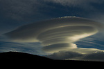 Lenticular cloud, Torres del Paine National Park, Patagonia, Chile