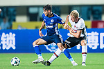 FC Schalke Midfielder Amine Harit (L) fights for the ball with Besiktas Istambul Defender Andreas Beck (R) during the Friendly Football Matches Summer 2017 between FC Schalke 04 Vs Besiktas Istanbul at Zhuhai Sport Center Stadium on July 19, 2017 in Zhuhai, China. Photo by Marcio Rodrigo Machado / Power Sport Images