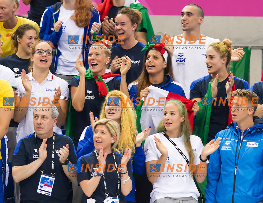Team ITALY<br /> London, Queen Elizabeth II Olympic Park Pool <br /> LEN 2016 European Aquatics Elite Championships <br /> Swimming<br /> Men's 1500m freestyle final  <br /> Day 10 18-05-2016<br /> Photo Giorgio Perottino/Deepbluemedia/Insidefoto