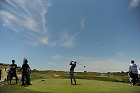 J.T. Poston (USA) watches his tee shot on 12 during Friday's round 2 of the 117th U.S. Open, at Erin Hills, Erin, Wisconsin. 6/16/2017.<br /> Picture: Golffile | Ken Murray<br /> <br /> <br /> All photo usage must carry mandatory copyright credit (&copy; Golffile | Ken Murray)