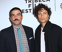 www.acepixs.com<br /> <br /> April 21 2017, New York City<br /> <br /> Zachary Quinto (L) and Miles McMillan arriving at the premiere of 'Aardvark' during the 2017 Tribeca Film Festival at the SVA Theatre on April 21, 2017 in New York City.<br /> <br /> By Line: Nancy Rivera/ACE Pictures<br /> <br /> <br /> ACE Pictures Inc<br /> Tel: 6467670430<br /> Email: info@acepixs.com<br /> www.acepixs.com