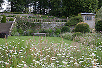 View of the Upper Garden at Haddon Hall from the Fountain Terrace
