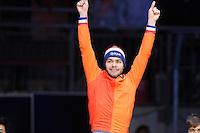SHORTTRACK: DORDRECHT: Sportboulevard Dordrecht, 25-01-2015, ISU EK Shorttrack, Europees kampioen Sjinkie KNEGT (NED), ©foto Martin de Jong