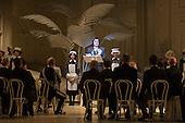 London, UK. 19 November 2015. Richard Suart as Ko-Ko. Dress rehearsal for the Gilbert and Sullivan comic opera The Mikado at the London Coliseum. Jonathan Miller's production of The Mikado returns to the Coliseum celebrating 200 performances on stage. Performances start on 21 November 2015 for 13 performances until 6 February 2016. With Robert Lloyd as The Midado, Anthony Gregory as Nanki-Poo, Richard Suart as Ko-Ko, Mary Bevan as Yum-Yum and Yvonne Howard as Katisha. Photo: Bettina Strenske