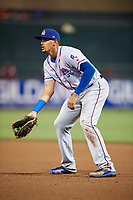 Round Rock Express first baseman Ronald Guzman (31) during a game against the Memphis Redbirds on April 28, 2017 at AutoZone Park in Memphis, Tennessee.  Memphis defeated Round Rock 9-1.  (Mike Janes/Four Seam Images)