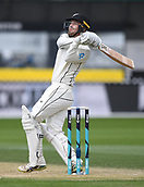 3rd December 2017, Wellington, New Zealand;  Tom Blundell batting during his debut century innings.<br /> Day 3. New Zealand Black Caps v West Indies. 1st test match of the ANZ International Cricket Season 2017/18 season. Basin Reserve, Wellington,