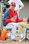 7 March 2012: Washington Nationals outfielder Bryce Harper is interviewed by Peter Gammons prior to a game against the St. Louis Cardinals at Space Coast Stadium in Viera, Florida. The teams battled to a 3-3 tie in Grapefruit League Spring Training action. Mandatory Credit: Ed Wolfstein Photo