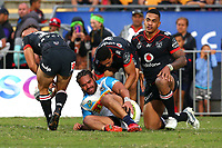Konrad Hurrell. Vodafone Warriors v Gold Coast Titans, NRL Rugby League round 2, Mt Smart Stadium, Auckland. 17 March 2018. Copyright Image: Renee McKay / www.photosport.nz