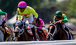 June 8, 2019 : #8, World of Trouble, ridden by jockey Manuel Franco, wins the Jaipur Invitational on Belmont Stakes Festival Saturday at Belmont Park in Elmont, New York. Kaz Ishida/Eclipse Sportswire/CSM