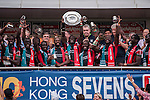 Kenya vs Japan during the HSBC Sevens Wold Series Shield Final match as part of the Cathay Pacific / HSBC Hong Kong Sevens at the Hong Kong Stadium on 29 March 2015 in Hong Kong, China. Photo by Xaume Olleros / Power Sport Images