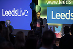 © Joel Goodman - 07973 332324 . 25/01/2018 . Leeds , UK . Wayne Ankers speaks from the stage at the Leeds Live launch party at Duke Studios , Sheaf Street . Photo credit : Joel Goodman