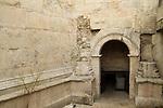 Israel, Jerusalem Old City, the Roman gate below Damascus gate