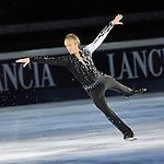 20/10/2012 - Grandi nomi del pattinaggio di figura su ghiaccio, si esibiscono per il Golden Skate 2012 al Palavela di Torino, il 20 ottobre 2012.<br /> <br /> 20/12/2012 - Figure Ice Skating stars exhibit at Golden Skate 2012 at Turin Palavela, on 20th october 2012. .<br /> <br /> Evgeny Plushenko