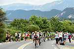 The peloton with Vasil Kiryienka (BLR) and Team Sky on the front during Stage 19 of the 104th edition of the Tour de France 2017, running 222.5km from Embrun to Salon-de-Provence, France. 21st July 2017.<br /> Picture: ASO/Alex Broadway | Cyclefile<br /> <br /> <br /> All photos usage must carry mandatory copyright credit (&copy; Cyclefile | ASO/Alex Broadway)