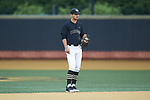 Wake Forest Demon Deacons shortstop Patrick Frick (5) on defense against the Virginia Cavaliers at David F. Couch Ballpark on May 18, 2018 in  Winston-Salem, North Carolina.  The Cavaliers defeated the Demon Deacons 15-3.  (Brian Westerholt/Sports On Film)