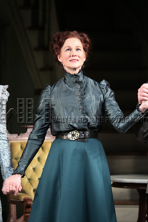 during the Broadway Opening Night Curtain Call bows for 'The Little Foxes' at Samuel J. Friedman Theatre on April 19, 2017 in New York City.