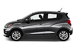 Car driver side profile view of a 2019 Chevrolet Spark 1LT 5 Door Hatchback