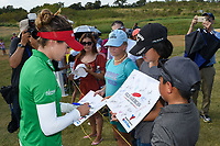 Gaby Lopez (MEX) signs autographs for young fans following  round 4 of the Volunteers of America Texas Classic, the Old American Golf Club, The Colony, Texas, USA. 10/6/2019.<br /> Picture: Golffile | Ken Murray<br /> <br /> <br /> All photo usage must carry mandatory copyright credit (© Golffile | Ken Murray)