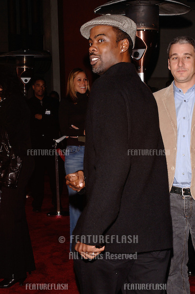 Actor/comedian CHRIS ROCK at the Los Angeles premiere of Guess Who, at the Grauman's Chinese Theatre, Hollywood..March 13, 2005: Los Angeles, CA..© 2005 Paul Smith / Featureflash