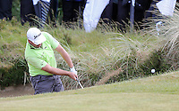 Friday 29th May 2015; Graeme McDowell, Northern Ireland chips out of a bunker at the 15th green<br /> <br /> Dubai Duty Free Irish Open Golf Championship 2015, Round 2 County Down Golf Club, Co. Down. Picture credit: John Dickson / SPORTSFILE