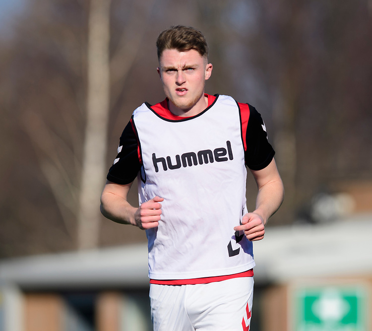 Fleetwood Town's Harry Souttar during the pre-match warm-up<br /> <br /> Photographer Chris Vaughan/CameraSport<br /> <br /> The EFL Sky Bet League One - Saturday 23rd February 2019 - Burton Albion v Fleetwood Town - Pirelli Stadium - Burton upon Trent<br /> <br /> World Copyright © 2019 CameraSport. All rights reserved. 43 Linden Ave. Countesthorpe. Leicester. England. LE8 5PG - Tel: +44 (0) 116 277 4147 - admin@camerasport.com - www.camerasport.com