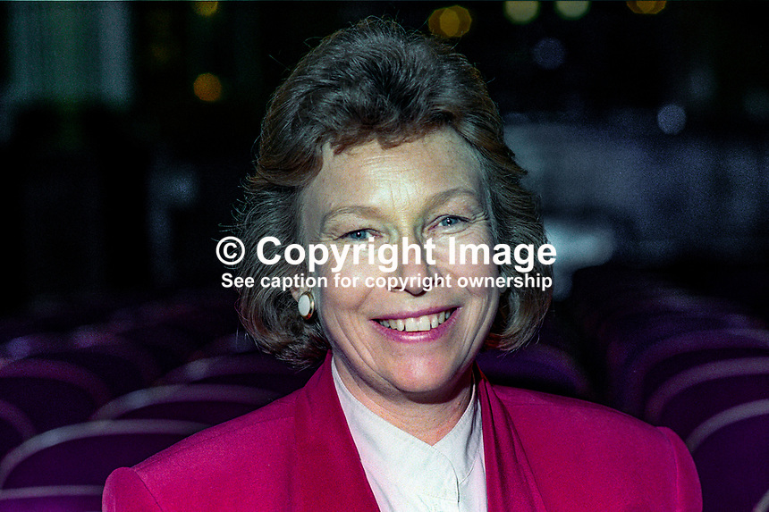 Joyce Quin, MP, Labour Party, UK, Octotber, 1994, 199410051<br /><br />Copyright Image from Victor Patterson, 54 Dorchester Park, <br />Belfast, UK, BT9 6RJ<br /><br />t1: +44 28 9066 1296 (from Rep of Ireland 048 9066 1296)<br />t2: +44 28 9002 2446 (from Rep of Ireland 048 9002 2446)<br />m: +44 7802 353836<br /><br />victorpatterson@me.com<br />www.victorpatterson.com<br /><br />Please see my Terms and Conditions of Use at VICTORPATTERSON.COM. It is IMPORTANT that you familiarise yourself with them.<br /><br />Images used on the Internet must be visibly watermarked i.e. &copy;VICTORPATTERSON.COM within the body of the image and copyright metadata must not be deleted. Images used on the Internet have a size restriction of 4kbs and are chargeable at the then current NUJ rates.<br /><br />This image is only available for the use of the download recipient i.e. television station, newspaper, magazine, book publisher, etc, and must not be passed on to any third party. It is also downloaded on condition that each and every usage is notified within 7 days to victorpatterson@me.com<br /><br />The right of Victor Patterson to be identified as the author is asserted in accordance with The Copyright Designs And Patents Act (1988).