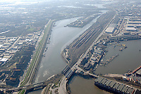 Deutschland, Hamburg, Hafen, Spreehafen, Veddelkanal, Hafenbahnhof Sued, Veddeler Damm