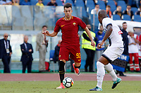 Calcio, Serie A: Roma vs Udinese. Roma, stadio Olimpico, 23 settembre 2017.<br /> Roma&rsquo;s Stephan El Shaarawy, left, is challenged by Udinese&rsquo;s Samir during the Italian Serie A football match between Roma and Udinese at Rome's Olympic stadium, 23 September 2017. Roma won 3-1.<br /> UPDATE IMAGES PRESS/Riccardo De Luca