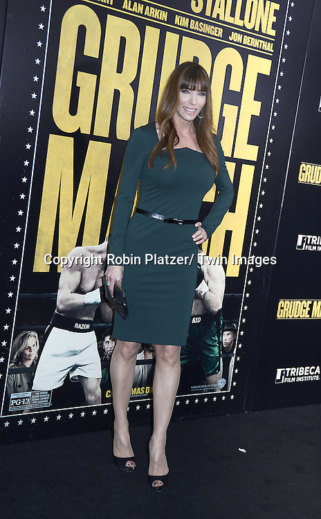 "Jennifer Stallone attends the World Premiere of ""Grudge Match"" at the Ziegfeld Theatre in New Yok City on December 16, 2013."