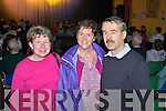 Maura Wallace from Ballyhahill with Anne and Jimmy Daly fom Abbeyfeale pictured in Athea for a special variety show last Sunday evening.