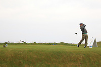 Thomas O'Connor (Athlone) on the 1st tee during Round 1of the Flogas Irish Amateur Open Championship 2019 at the Co.Sligo Golf Club, Rosses Point, Sligo, Ireland. 16/05/19<br /> <br /> Picture: Thos Caffrey / Golffile<br /> <br /> All photos usage must carry mandatory copyright credit (© Golffile | Thos Caffrey)