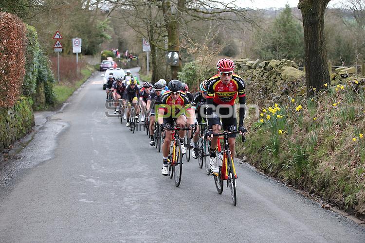 Picture by Alex Whitehead/SWpix.com - British Cycling Chorley Grand Prix Spring Cup Elite Series<br /> copyright picture - Simon Wilkinson - simon@swpix.com<br /> Peloton out on the course